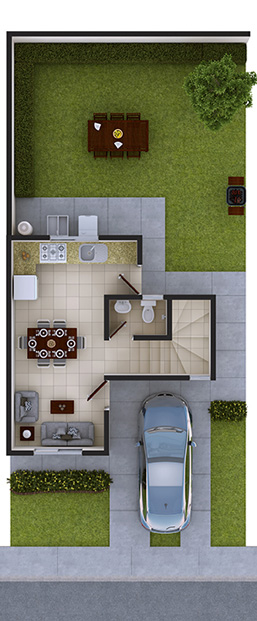 Casas en venta en Arcadia la Silla - Modelo Marsella Vll Planta Baja