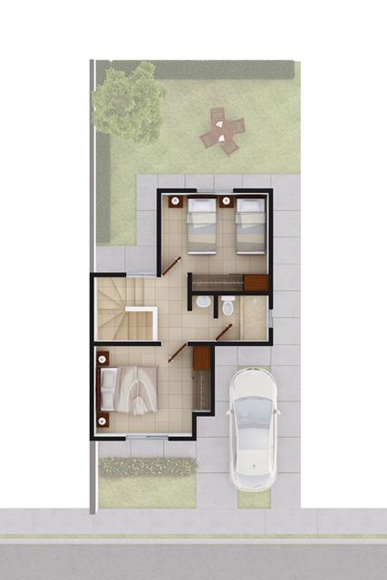 Foto de planta alta de casa en venta Modelo Coruña VII en Arcadia La Silla, Juárez, Nuevo León.