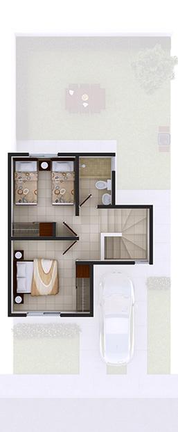 Foto de planta alta de casa en venta Modelo Marsella VII en Arcadia La Silla, Juárez, Nuevo León.