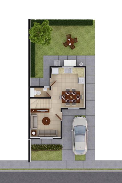 Foto de planta baja de casa en venta Modelo Coruña VII en Arcadia La Silla, Juárez, Nuevo León.
