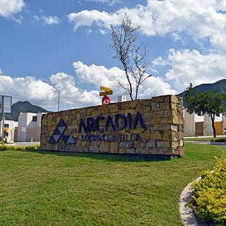 Acceso de fraccionamiento Arcadia La Silla