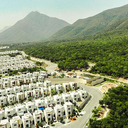 Vista aérea de fraccionamiento Arcadia La Silla