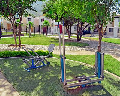 Área de ejercitadores de fraccionamiento Arcadia La Silla