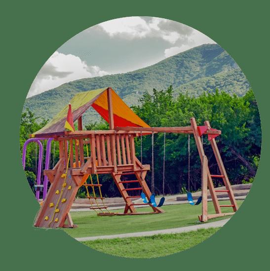 Parque con juegos infantiles en Arcadia La Silla